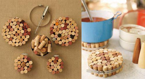 Изготовление подставки под горячее из пробок от вина