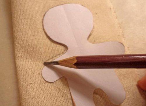 Прорисовка шаблона на ткани