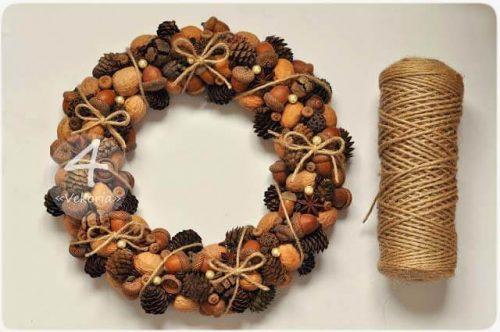 Рождественские венки из натуральных материалов