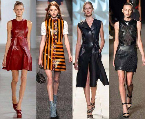 Кожаные платья на Новый 2018 год
