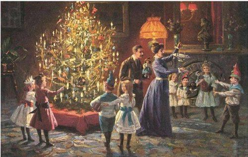 Рождественская ёлка в старые времена