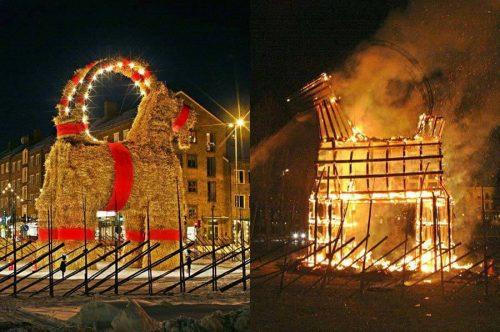 Рождественский козёл в Швеции