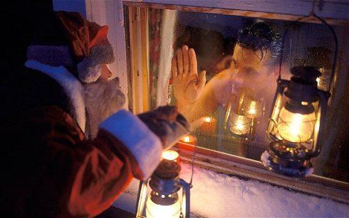 Сауна в Финляндии на Рождество