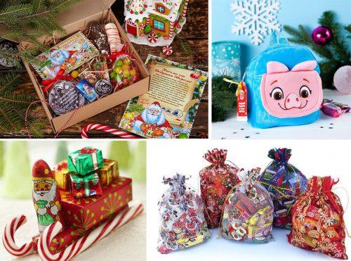 сладкие корпоративные подарки детям на новый год